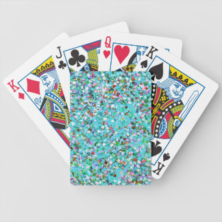 Multicolor Mosaic Modern Grit Glitter #7 Bicycle Playing Cards