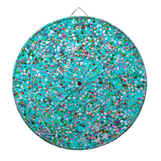 Multicolor Mosaic Modern Grit Glitter #7 Dartboard