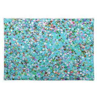 Multicolor Mosaic Modern Grit Glitter #7 Placemat