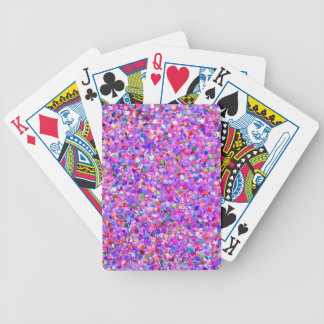 Multicolor Mosaic Modern Grit Glitter #8 Bicycle Playing Cards