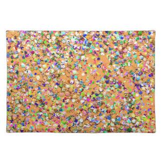 Multicolor Mosaic Modern Grit Glitter #9 Placemat