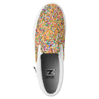 Multicolor Mosaic Modern Grit Glitter #9 Slip On Shoes