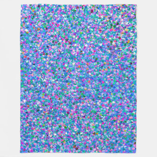 Multicolor Mosaic Modern Grit Glitter Fleece Blanket