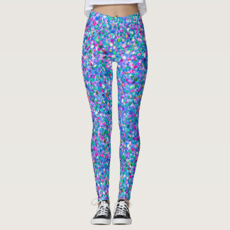 Multicolor Mosaic Modern Grit Glitter Leggings