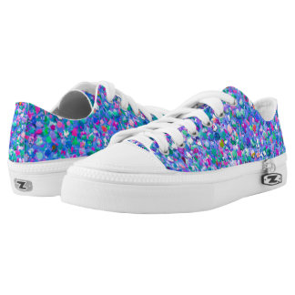 Multicolor Mosaic Modern Grit Glitter Low Tops