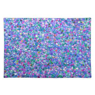 Multicolor Mosaic Modern Grit Glitter Placemat
