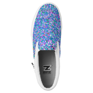 Multicolor Mosaic Modern Grit Glitter Slip-On Shoes