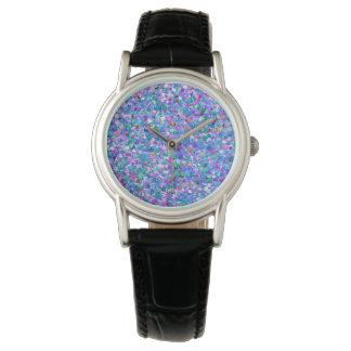Multicolor Mosaic Modern Grit Glitter Watch
