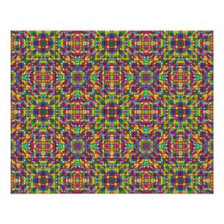 Multicolor mosaic pattern 11.5 cm x 14 cm flyer