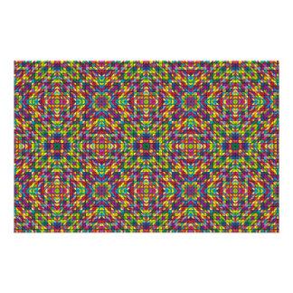 Multicolor mosaic pattern 14 cm x 21.5 cm flyer