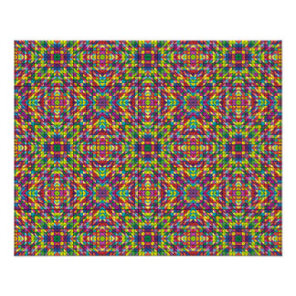 "Multicolor mosaic pattern 4.5"" x 5.6"" flyer"