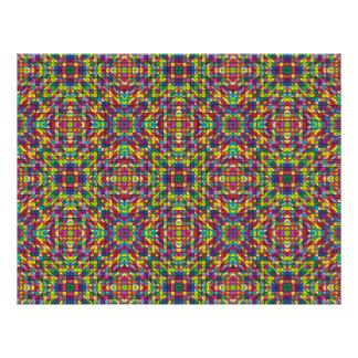 "Multicolor mosaic pattern 8.5"" x 11"" flyer"