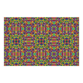 "Multicolor mosaic pattern 5.5"" x 8.5"" flyer"