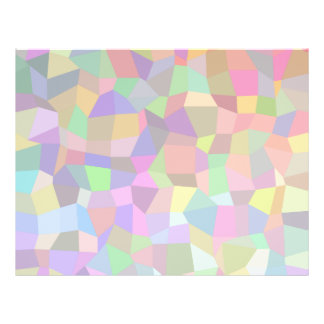 Multicolor mosaic rectangles 21.5 cm x 28 cm flyer