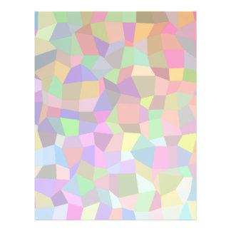 Multicolor mosaic rectangles 21.5 cm x 28 cm flyer