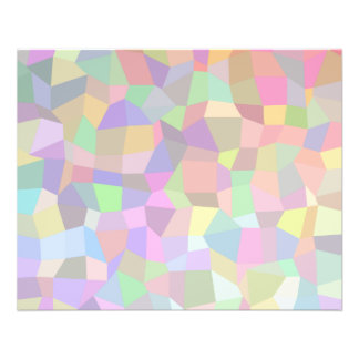 Multicolor mosaic rectangles flyers