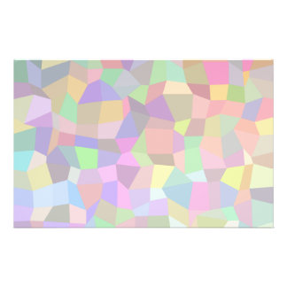 Multicolor mosaic rectangles custom flyer