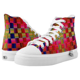 Multicolor Mosaic Tile Pattern High Tops