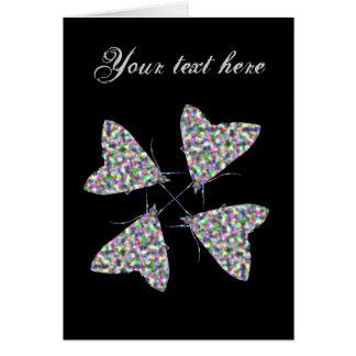 Multicolor Moth Art Custom Greeting Card