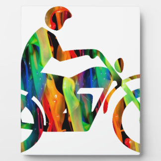 MULTICOLOR MOTORCYCLE PRODUCTS PLAQUE