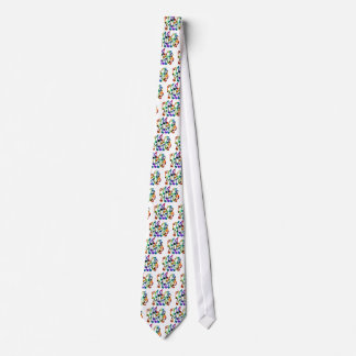 MULTICOLOR MUSICAL NOTES PRODUCTS TIE