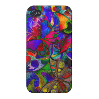Multicolor nature design cover for iPhone 4