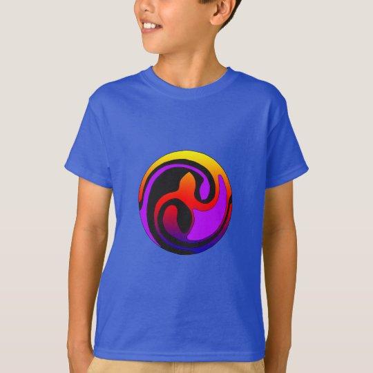Multicolor on Blue Kid's Celtic Seedling Shirt