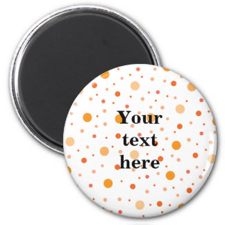Multicolor orange polka dots magnet