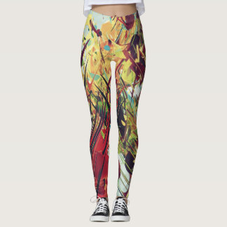 Multicolor Paint Leggings
