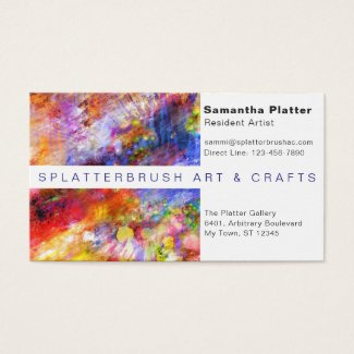 Multicolor Paint Splash Artist Creative Business Card