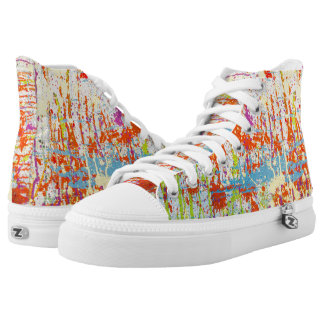 Multicolor Paint Stains High Tops