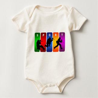 Multicolor Paintball Emblem Baby Bodysuit