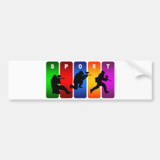 Multicolor Paintball Emblem Bumper Sticker