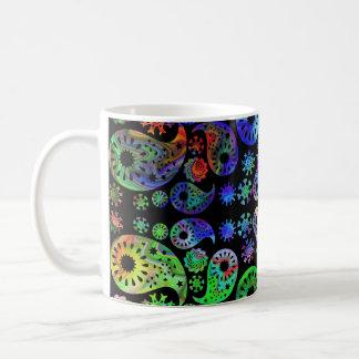 Multicolor Paisley Design. Basic White Mug