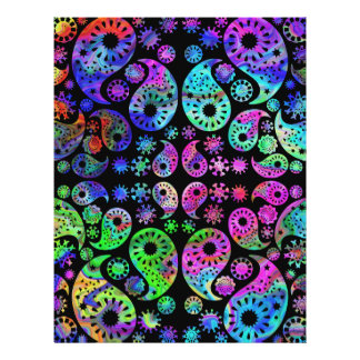 Multicolor Paisley Design Full Color Flyer