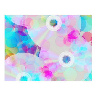 Multicolor Party Background Postcard
