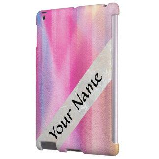 Multicolor pastel iPad case
