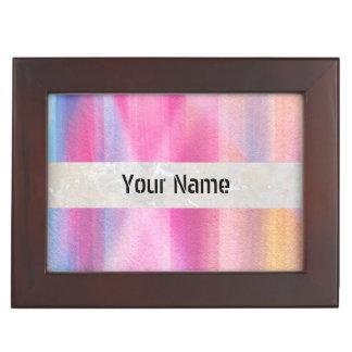 Multicolor pastel keepsake box