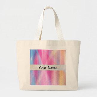Multicolor pastel large tote bag