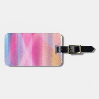 Multicolor pastel luggage tag
