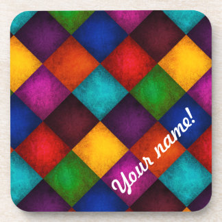 Multicolor Patchwork Pattern Drink Coasters