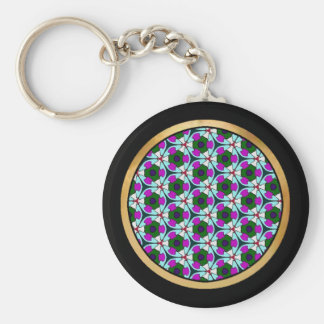 Multicolor pattern Blue & Pink Keychains