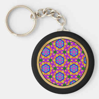 Multicolor pattern keychains