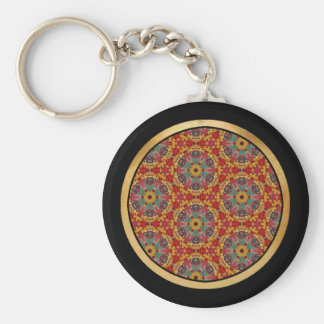 Multicolor pattern keychain