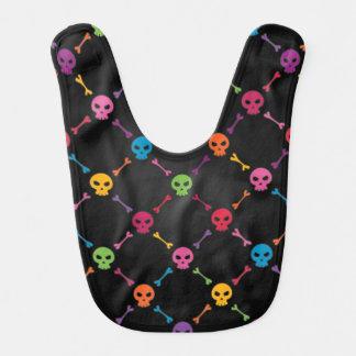 Multicolor pattern with skulls bib