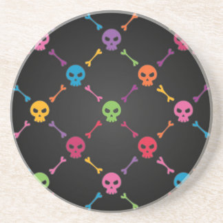 Multicolor pattern with skulls coaster