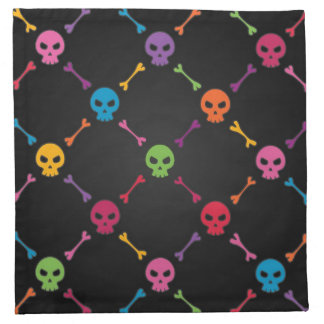 Multicolor pattern with skulls napkin