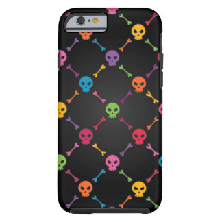 Multicolor pattern with skulls tough iPhone 6 case