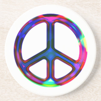 Multicolor Peace Sign Coaster