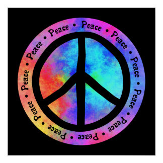 Multicolor Peace Sign Poster